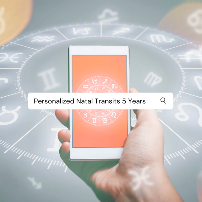 Personalized Natal Transits 5 Years