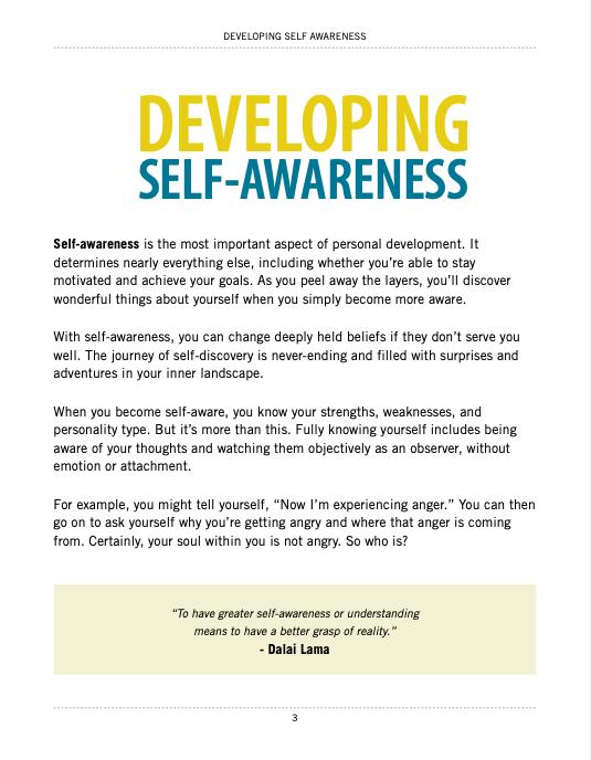 Developing Self Awareness E-Book