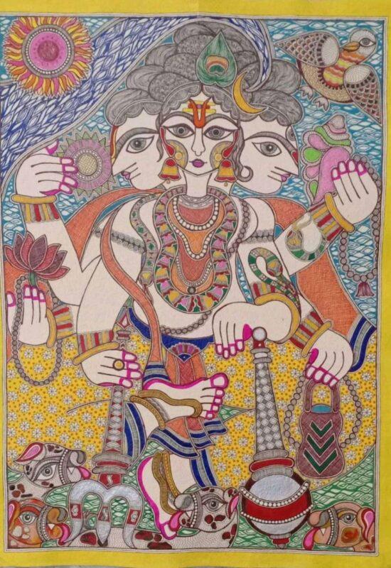 BEHIND THE ART OF MANJUSHA PAINTING: MEET SOMA ROY